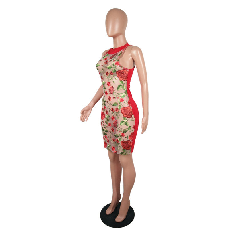 'I BUY MYSELF ROSES' SEXY EMBROIDERY DRESS