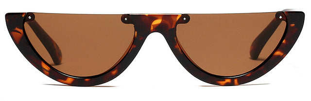 'ALEXIS' LEOPARD CAT EYE SUNGLASSES
