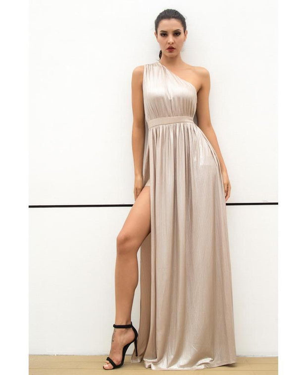 HAZEL NUDE GLOW MAXI DRESS