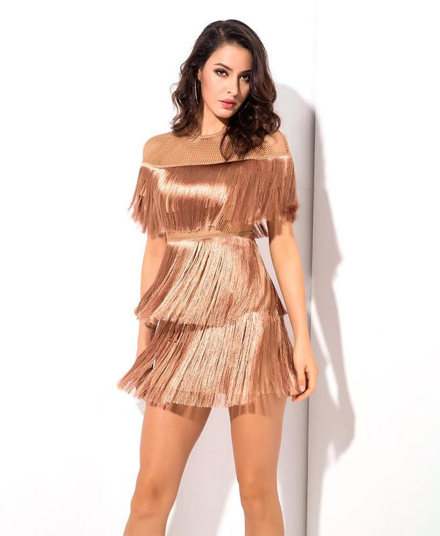 LUNA FRINGE PARTY DRESS