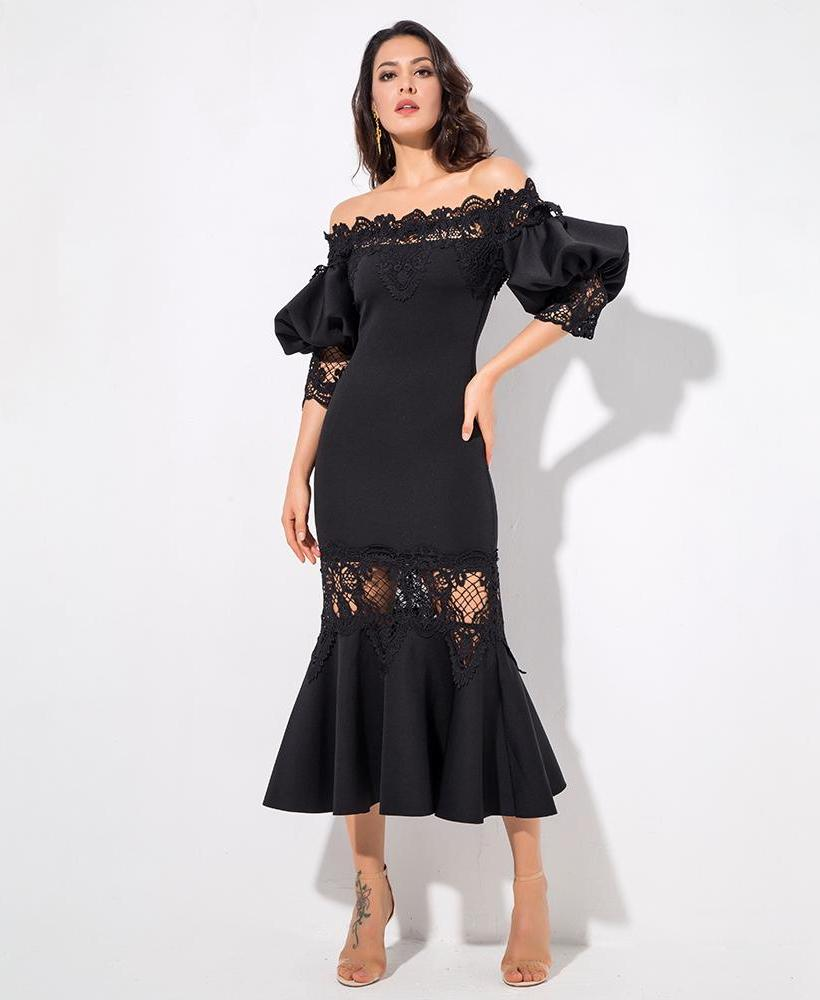 'HARPER' ELEGANT BLACK DRESS