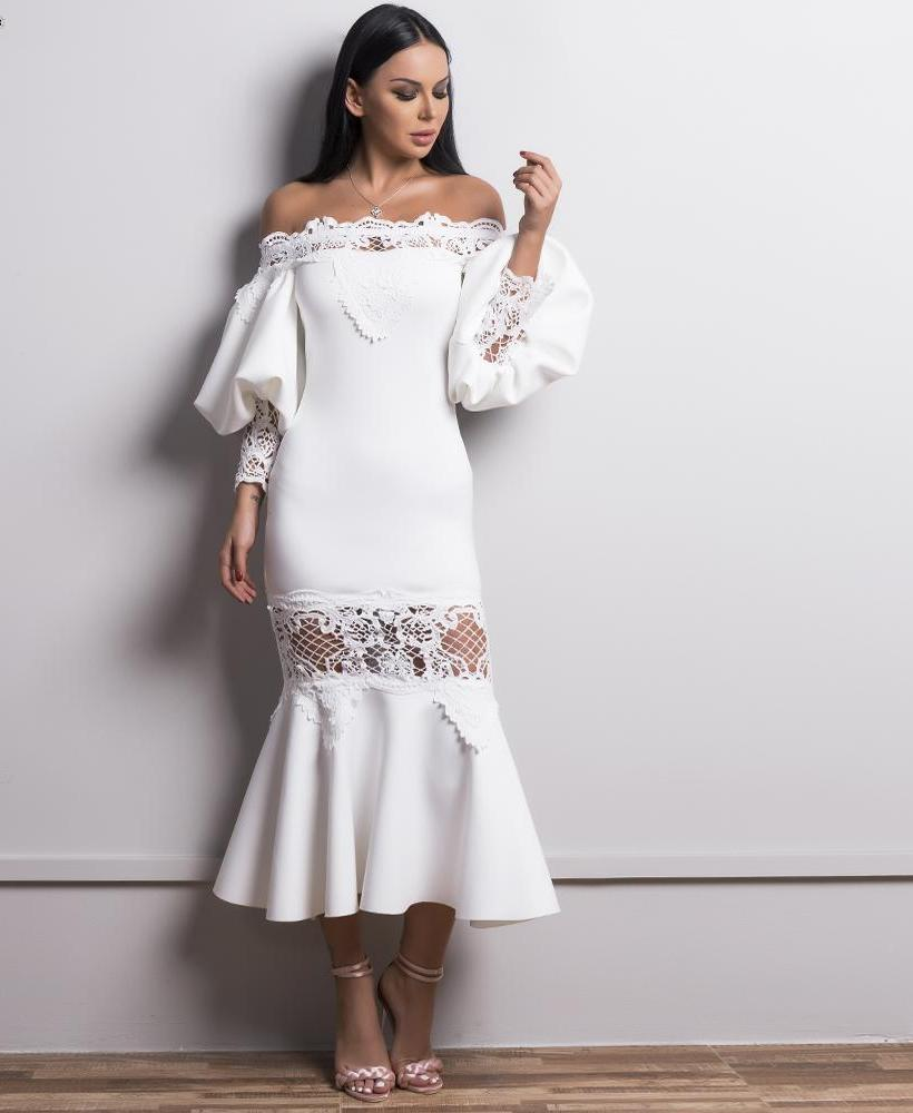 'HARPER' ELEGANT WHITE DRESS