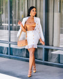 VICTORIA - WHITE TWEED TWO PIECE SET