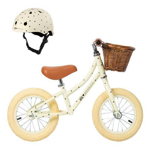 FIRST GO! - Balance Bike Set met Helm - BONTON Crème - littlefashionaddict.com