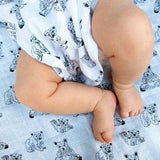 Swaddle & burp cloth uit Bio-katoen - 'Bears' - littlefashionaddict.com