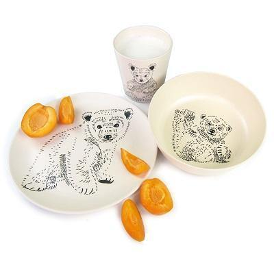 Bamboe servies - 'Bears' - littlefashionaddict.com