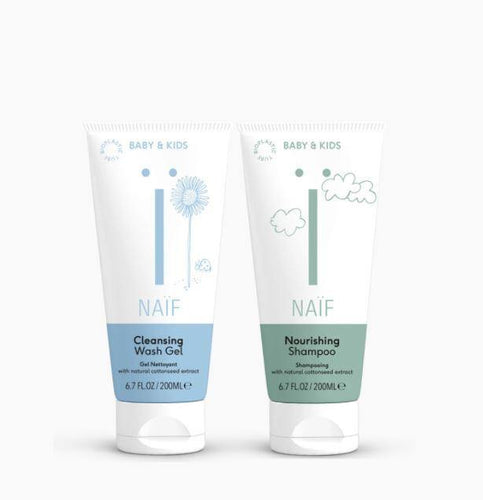 Naïf - Bundel Shampoo & Cleansing Wash Gel Baby & kids - littlefashionaddict.com