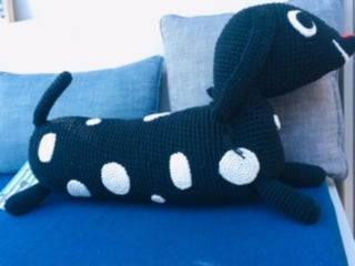 Gehaakte ZITZAK-KNUFFEL BIG - Dotty Dog - littlefashionaddict.com