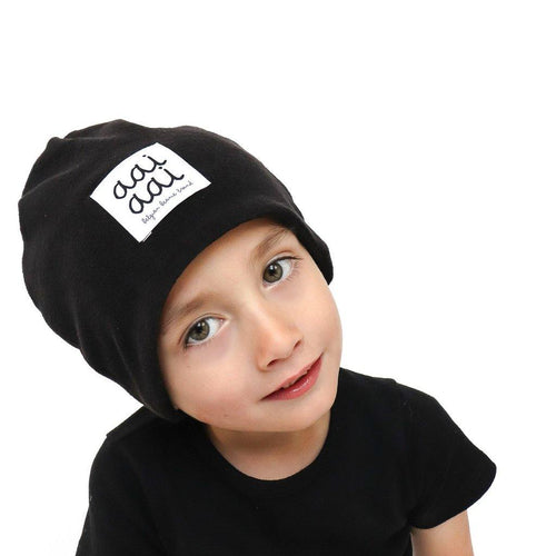 Little Fashion Addict - AAI AAI - Sponge black beanie