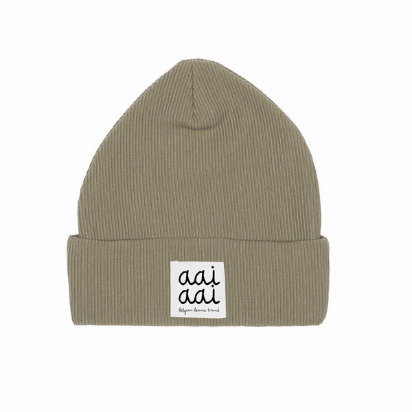 Little Fashion Addict - AAI AAI - Rib Beanie Muts - Olijfgroen