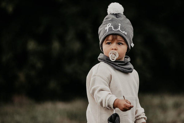 Little Fashion Addict - AAI AAI - Wintersjaal  en beanie grey