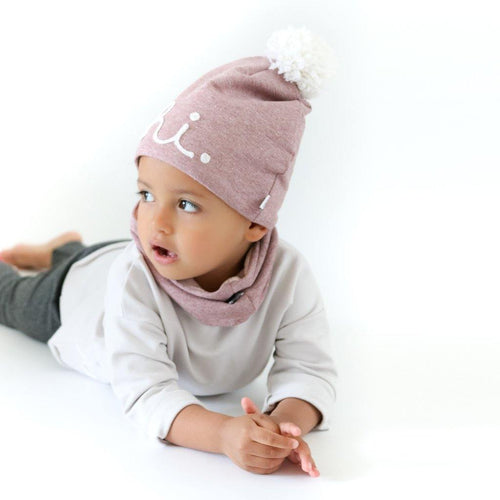 Little Fashion Addict - AAI AAI - Wintersjaal  en winter beanie Pink