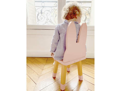 Little Fashion Addict - Boogy woody - Mini Roze Konijnenstoeltje