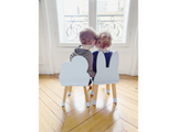 Little Fashion Addict - Boogy Woody - Ministoeltje grijsblauwe wolk