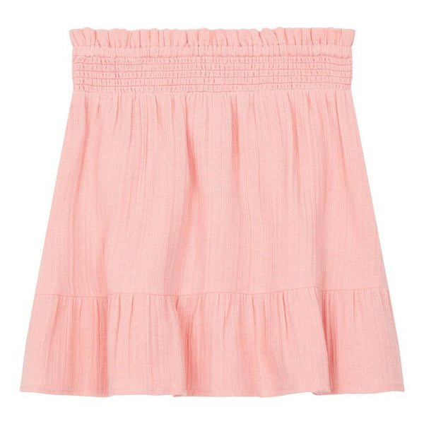 Little Fashion Addict - Hundred Pieces - Short Organic Cotton Muslin Skirt - Candy Pink