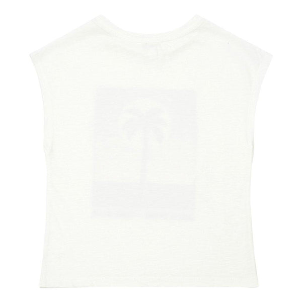 Little Fashion Addict - Hundred Pieces - Tank Top Palm Tree - Off White
