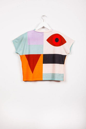 Multi Patterned T-shirt - Jackson Love - Little Fashion Addict