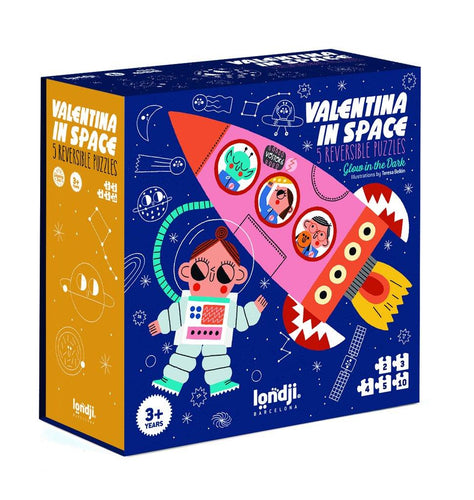 Little Fashion Addict - Londji - Set van 5 puzzels - Valentina in Space - Littlefashionaddict.com