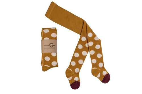 Little Fashion Addict - Mama's Feet - Broekkousen polka dot mustard