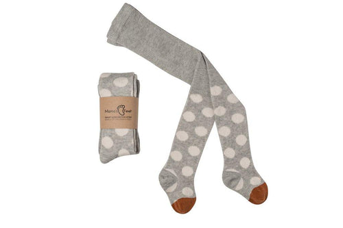 Little Fashion Addict - Mama's Feet - Broekkousen polka dot grey