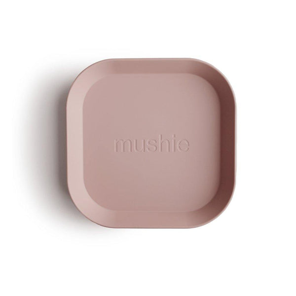 Little Fashion Addict - Mushie - Set van 2 vierkante borden - Blush