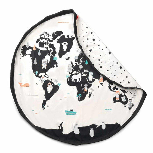 Little Fashion Addict - Play & Go Print - Worldmap binnenkant