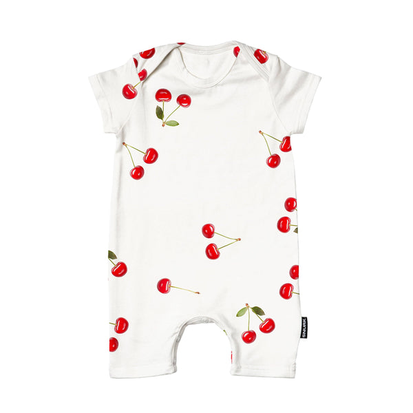 Little Fashion Addict - Snurk - Cherries Playsuit for babies