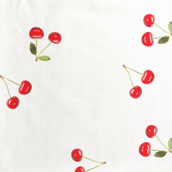 Little Fashion Addict - Snurk Slaapkleding - Cherries detail van de print