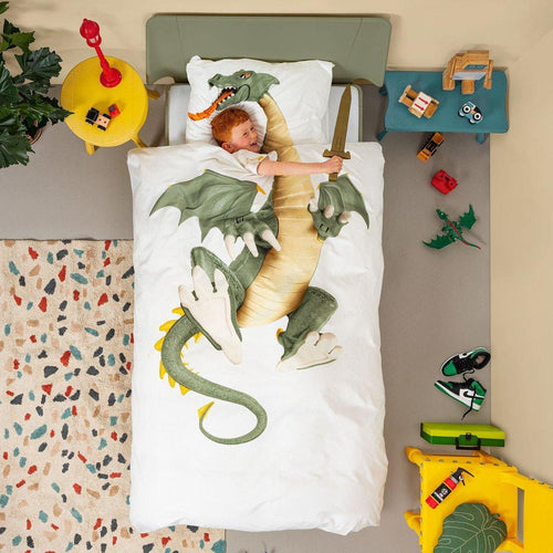 Little Fashion Addict - Snurk Beddengoed - FW20 - Dragon sfeerfoto jongen