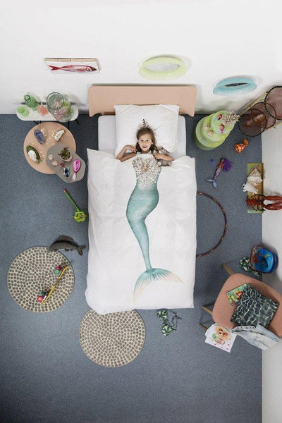 Little Fashion Addict - Snurk Beddengoed - Mermaid - dekbedset voor 1 persoon