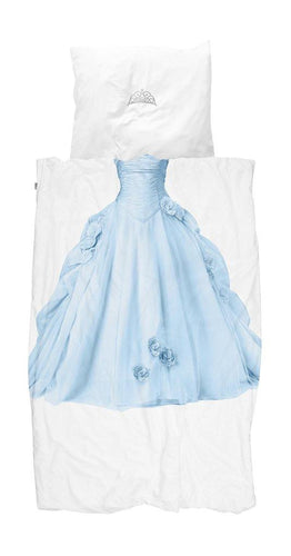 Little Fashion Addict - Snurk Beddengoed - Princess Blue - Dekbedset voor 1 persoon