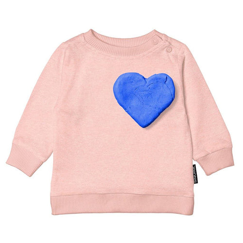 Little Fashion Addict - Snurk - Babysweater - Clay Heart