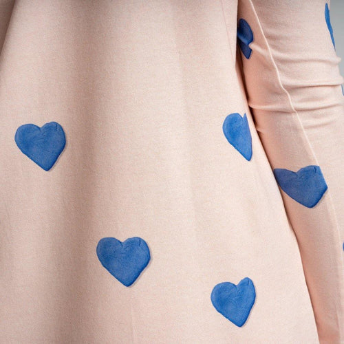 Little Fashion Addict - Snurk - Clay Heart Longsleeve Dress Dames - detail