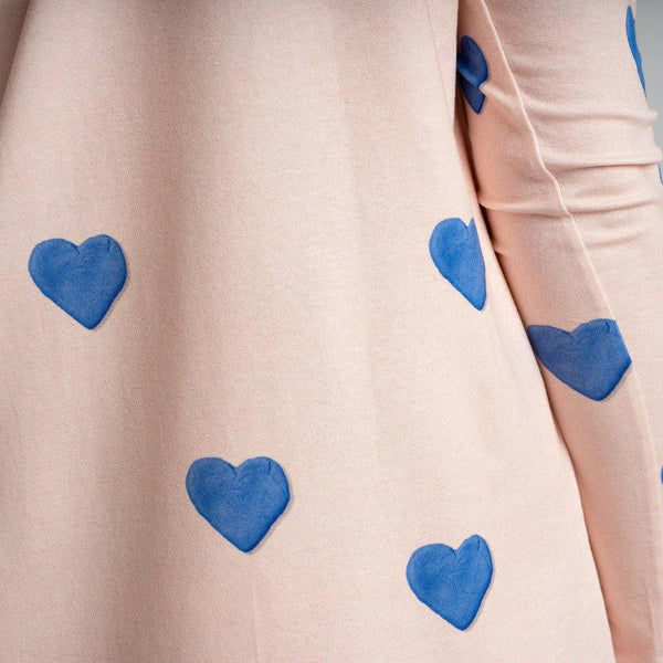 Little Fashion Addict - Snurk - Clay Heart Longsleeve Dress kids detail