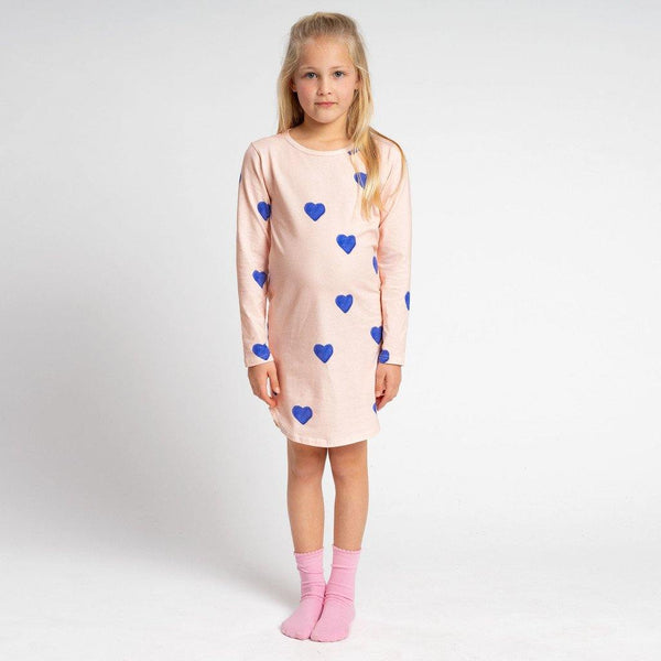 Little Fashion Addict - Snurk - Clay Heart Longsleeve Dress kids