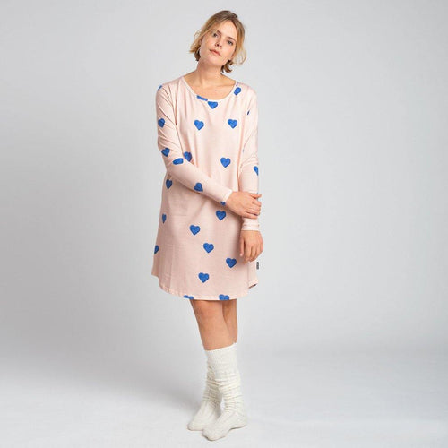 Little Fashion Addict - Snurk - Clay Heart Longsleeve Dress Dames