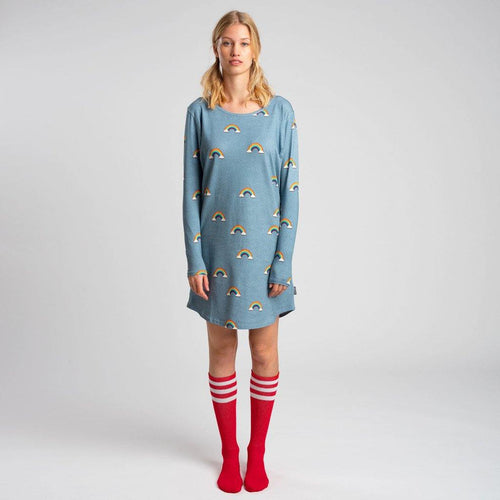 Little Fashion Addict - Snurk - Clay Rainbow Longsleeve dress dames