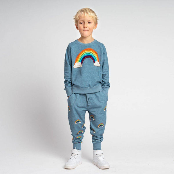 Little Fashion Addict - Snurk - Clay Rainbow - Kids Pyjama - voorkant