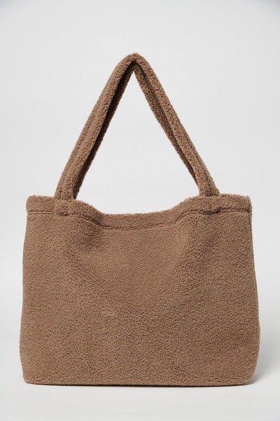 Little Fashion Addict - Studio Noos -  Brown Chunk Teddy Mom Bag