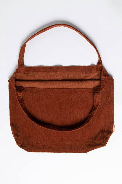 Little Fashion Addict - Studio Noos - Rusty Rib Mom Bag - Roestkleurig Ribfluweel