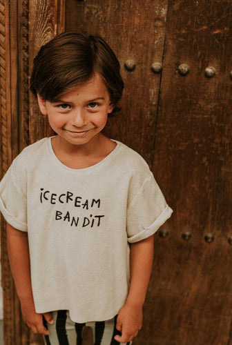 Little Fashion Addict - Sproet & Sprout - Terry T-shirt Icecream Bandit - Sfeerfoto