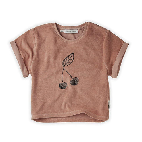 Little Fashion Addict - Sproet & Sprout - Terry T-shirt Cherry
