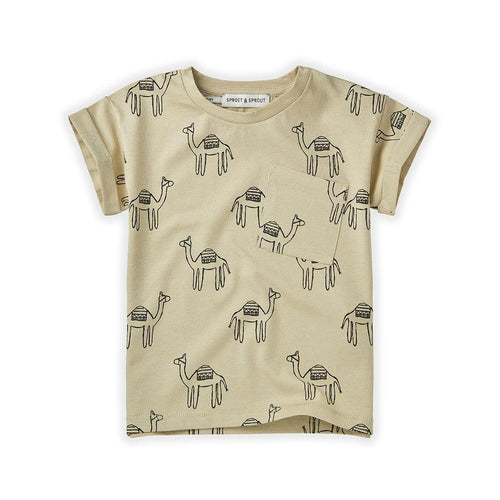 Little Fashion Addict - Sproet & Sprout - T-shirt print Camel Sesam