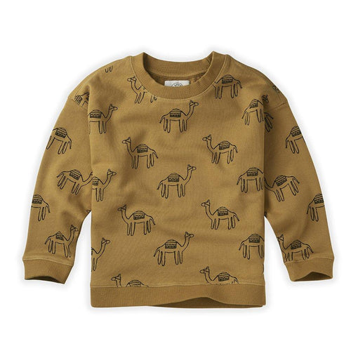 Little Fashion Addict - Sproet & Sprout - Sweater Print Camel