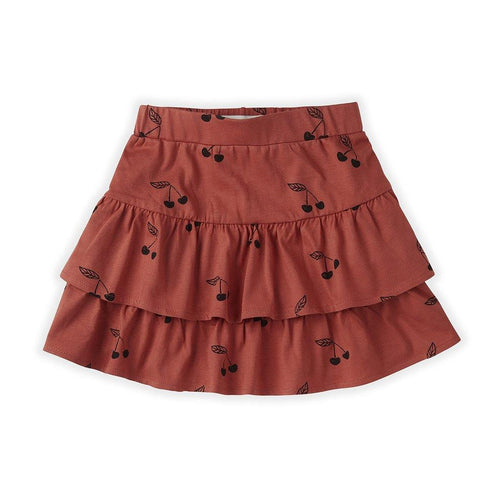 Little Fashion Addict - Sproet & Sprout - Skirt Ruffle - Print Cherry