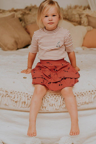 Little Fashion Addict - Sproet & Sprout - Skirt Ruffle - Print Cherry - Sfeerfoto