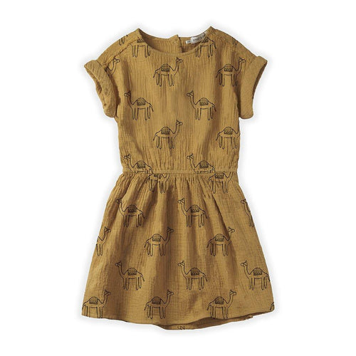 Little Fashion Addict - Sproet & Sprout - Dress Camel Print