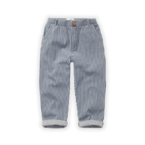 Little Fashion Addict - Sproet & Sprout - Chino Broek Denim Stripe