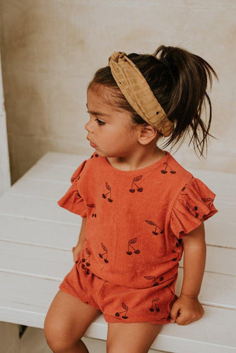 Little Fashion Addict - Sproet & Sprout - Jumpsuit Cherry Red - Sfeerfoto