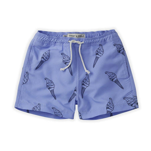 Little Fashion Addict - Sproet & Sprout - Zomercollectie 2021 - Zwemshort Bright Blue - Icecream